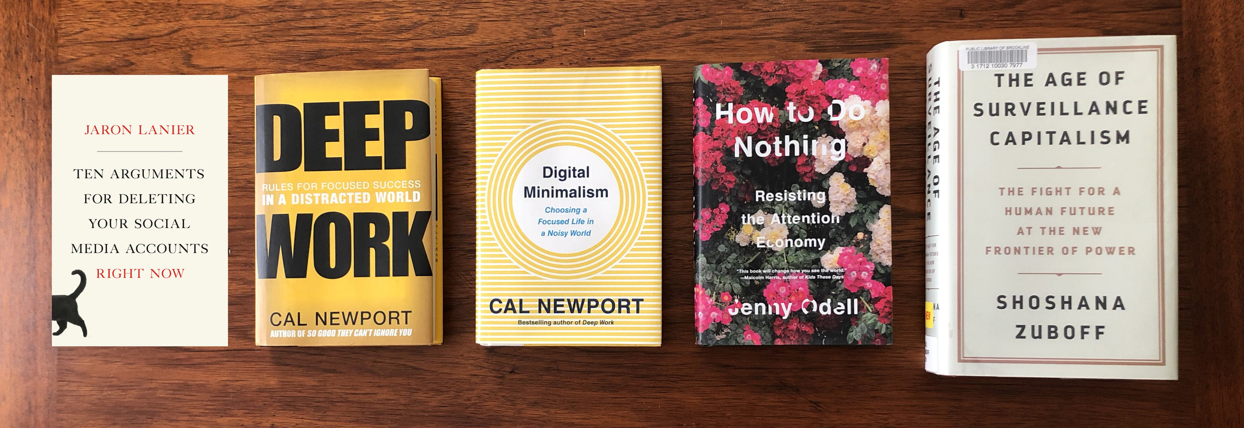 Five books with ideas that intersect with a whole lot of other stuff.