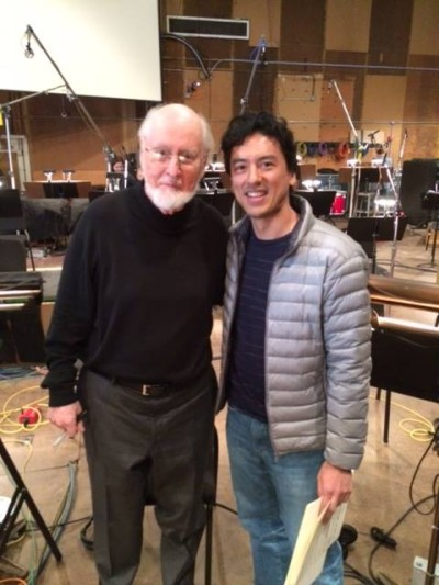 kevin with the maestro on the last day of scoring