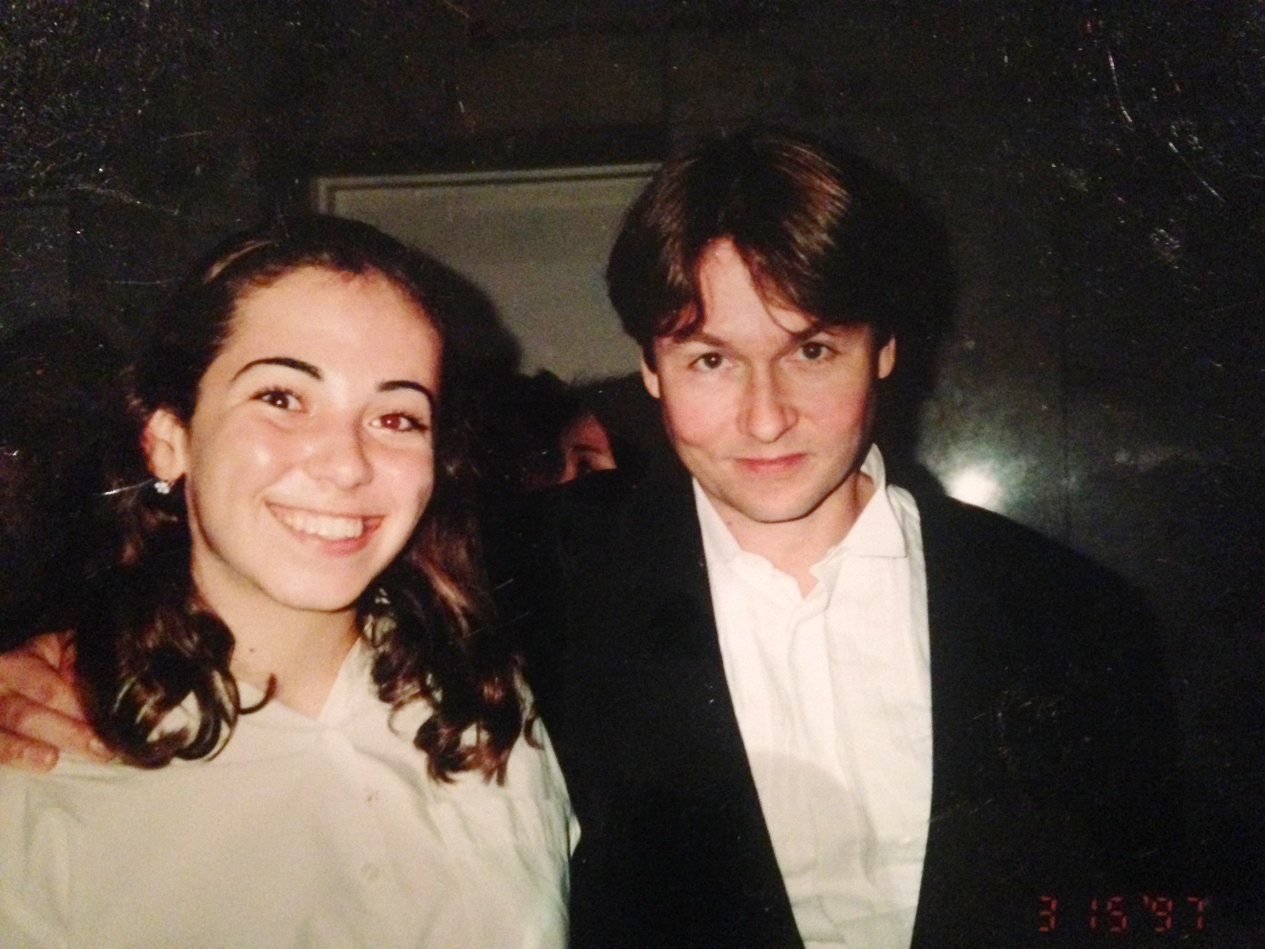 """Here I am, at 15, after playing concertmaster in a side-by-side performance with the LA phil under someone whose music i should """"check out."""" Note the look of Abject disdain on my face."""