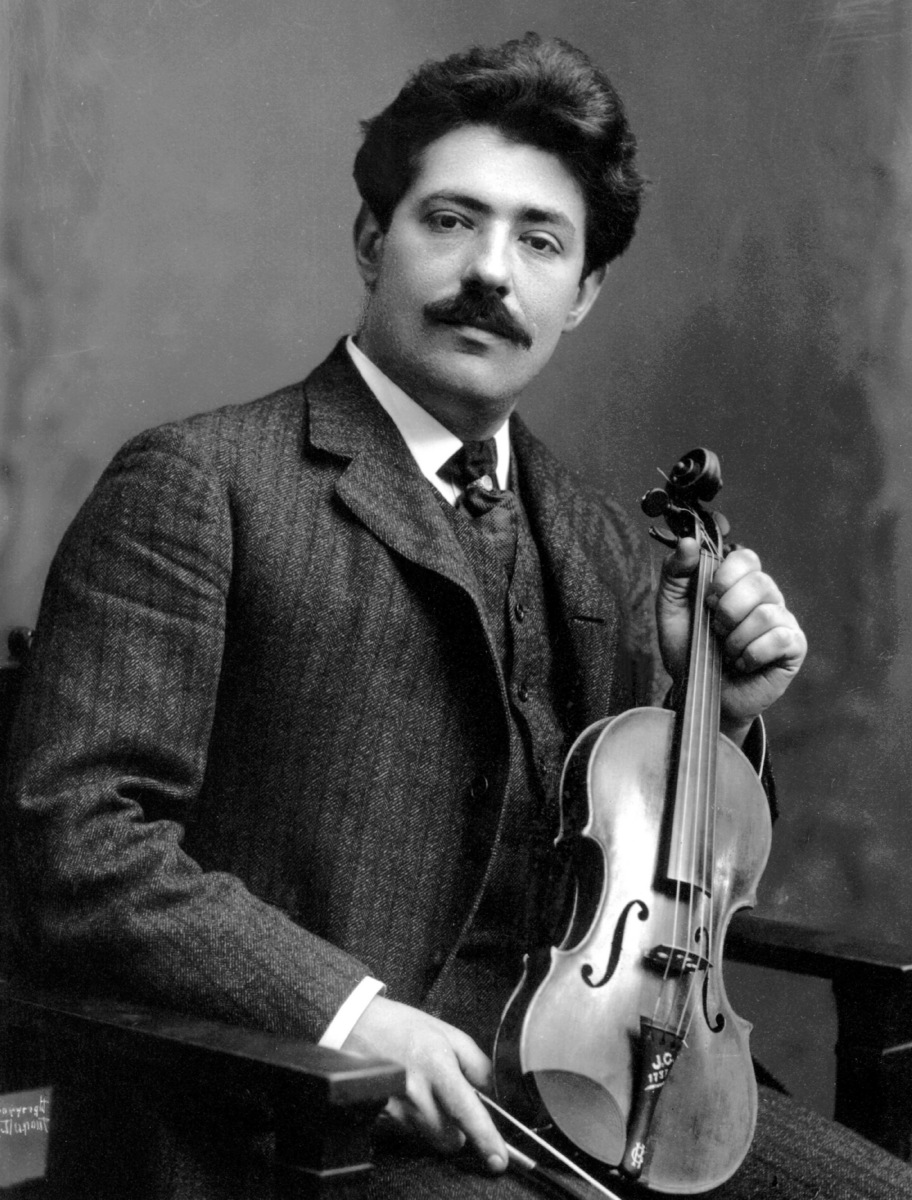 Fritz kreisler, on the other hand: easy on the ears and the eyes -- in that fin-de-siecle kind of way.