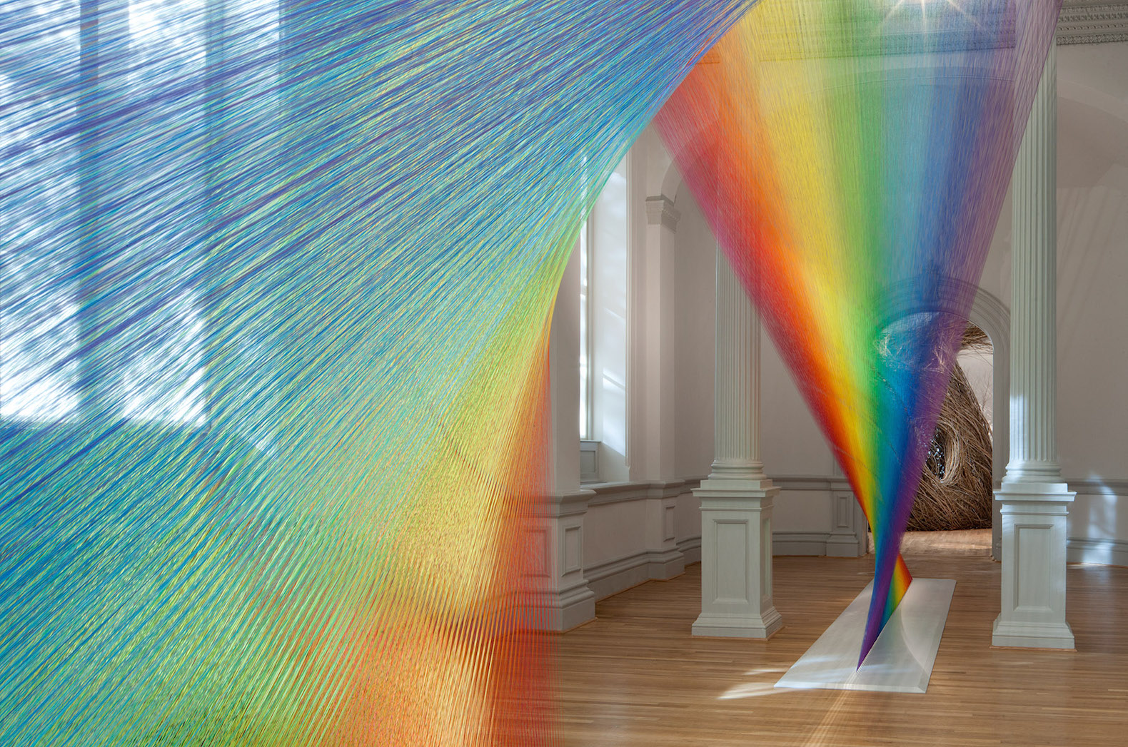 """Part of the Renwick's much-instagrammed """"Wonder"""" exhibit: Plexus 10 by Gabriel Dawe. say what you want about it -- it's delightfully whimsical."""