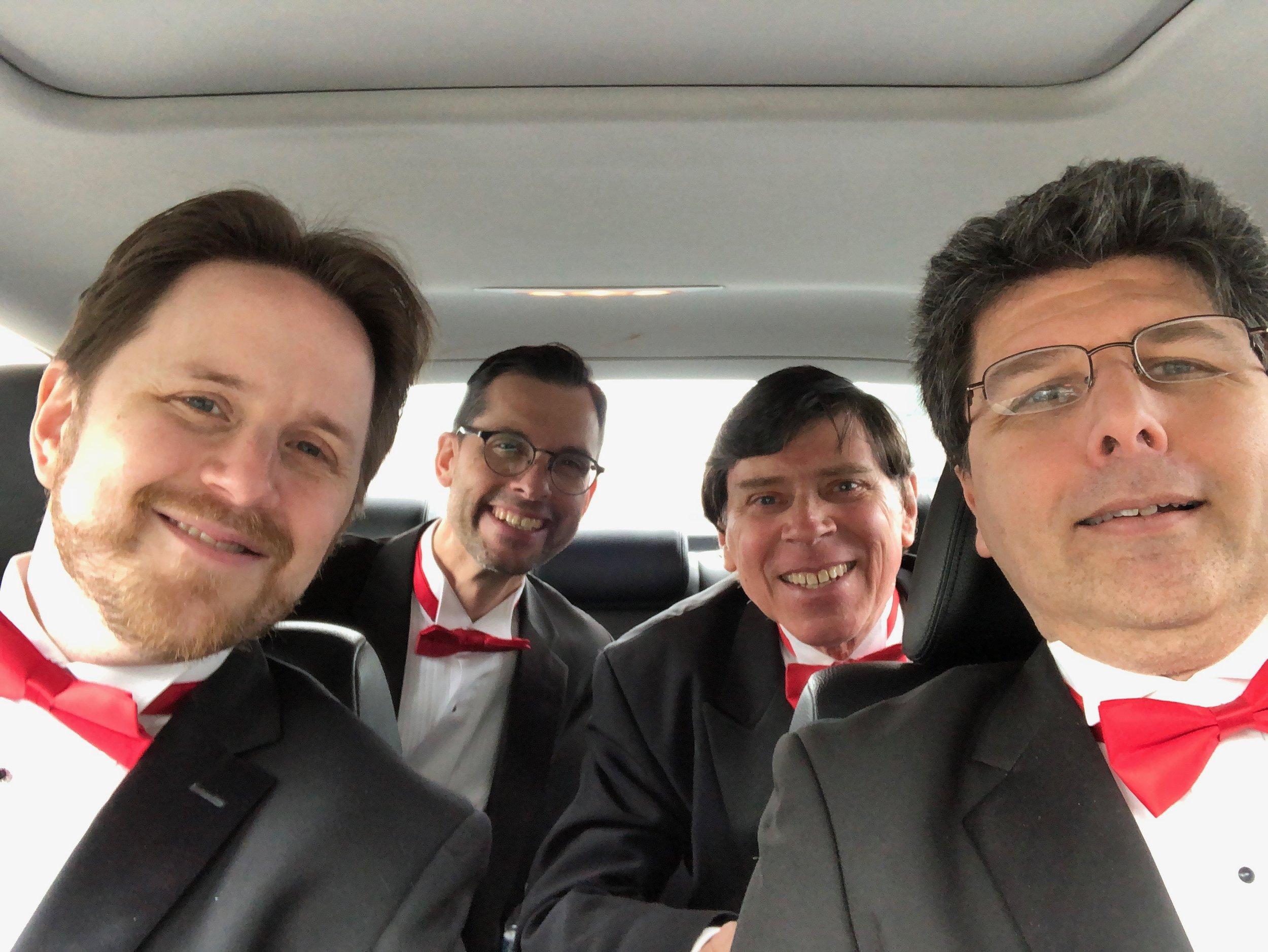 The Delegates  - Nico Scopelliti, Dan Ray, Dude Siebert and Craig Scott during their travels.