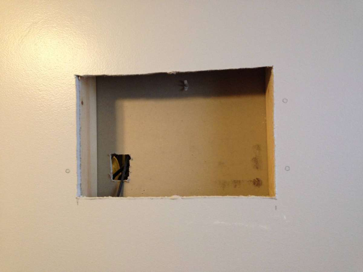 Removing moldy drywall