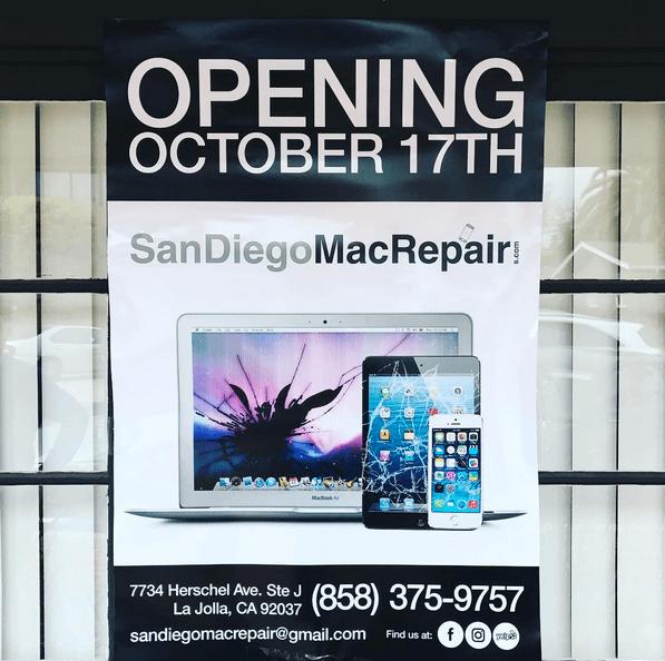 la jolla iphone repair san diego's best iphone ipad mac repair. apple certified mac technician open october 17