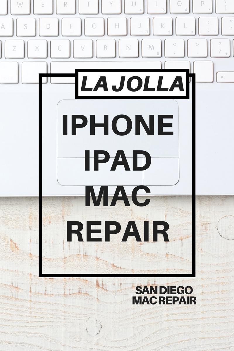 La Jolla iPhone iPad Mac Repair by San Diego Mac Repair. 2016