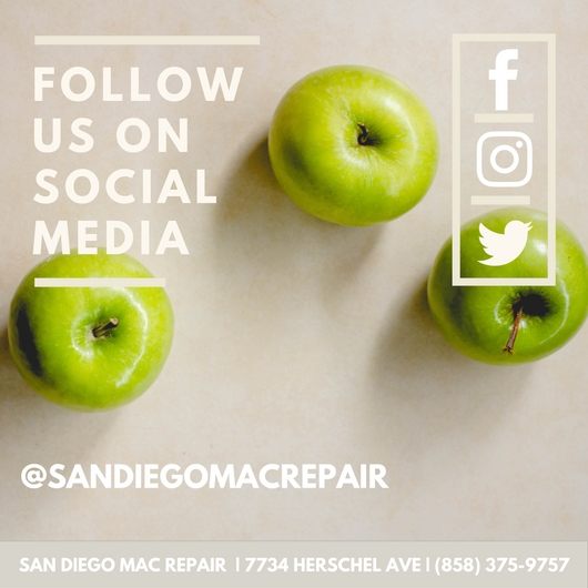 Follow San Diego Mac Repair on Facebook Instagram and Twitter for fast support. You can send us a message for help with your iPhone iPad or Mac. Broken screens, cracked glass, digitizer, LCD, water damage, data recover and more.