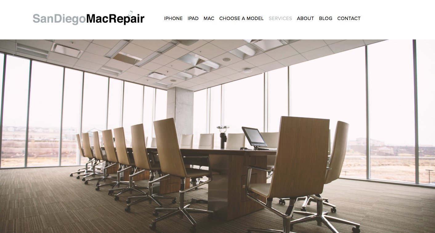 business iphone iPad Mac repair support training in La Jolla and San Diego. Training includes training staff on how to use devices, repair includes cracked iPhone screen repair, MacBook screen repair, support includes software support for your iMac, MacBook, Mac mini etc.