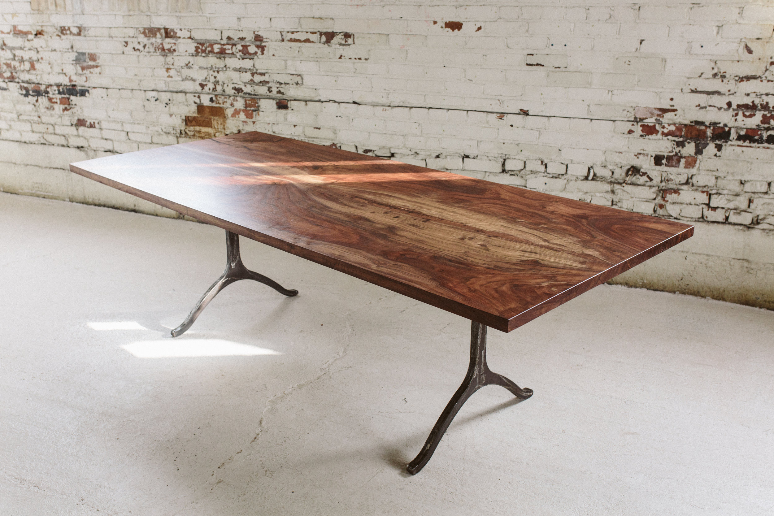 Claro Walnut Dining Table with Wishbone Legs