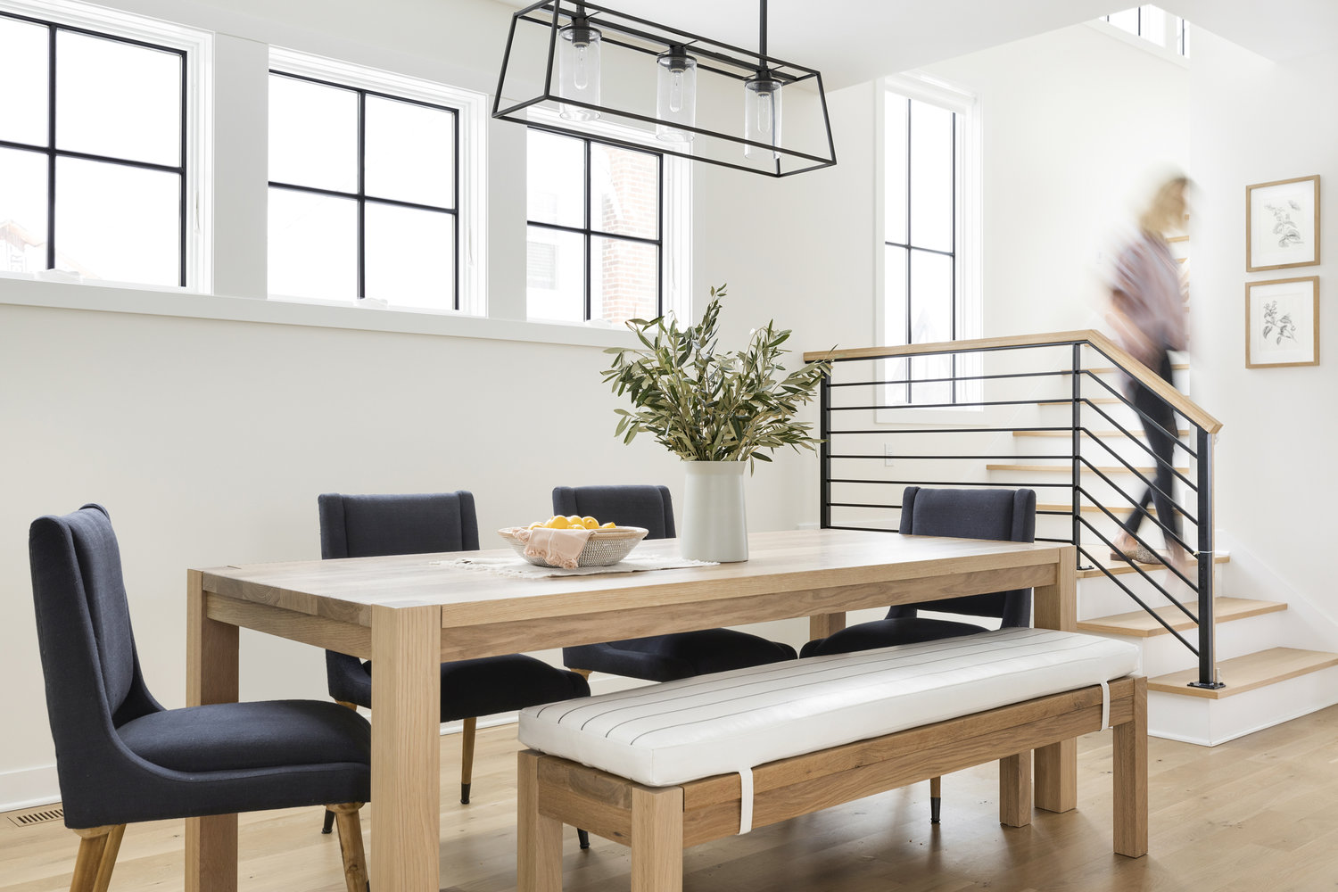 Parsons Dining Table White Oak, Oak Dining Room Table