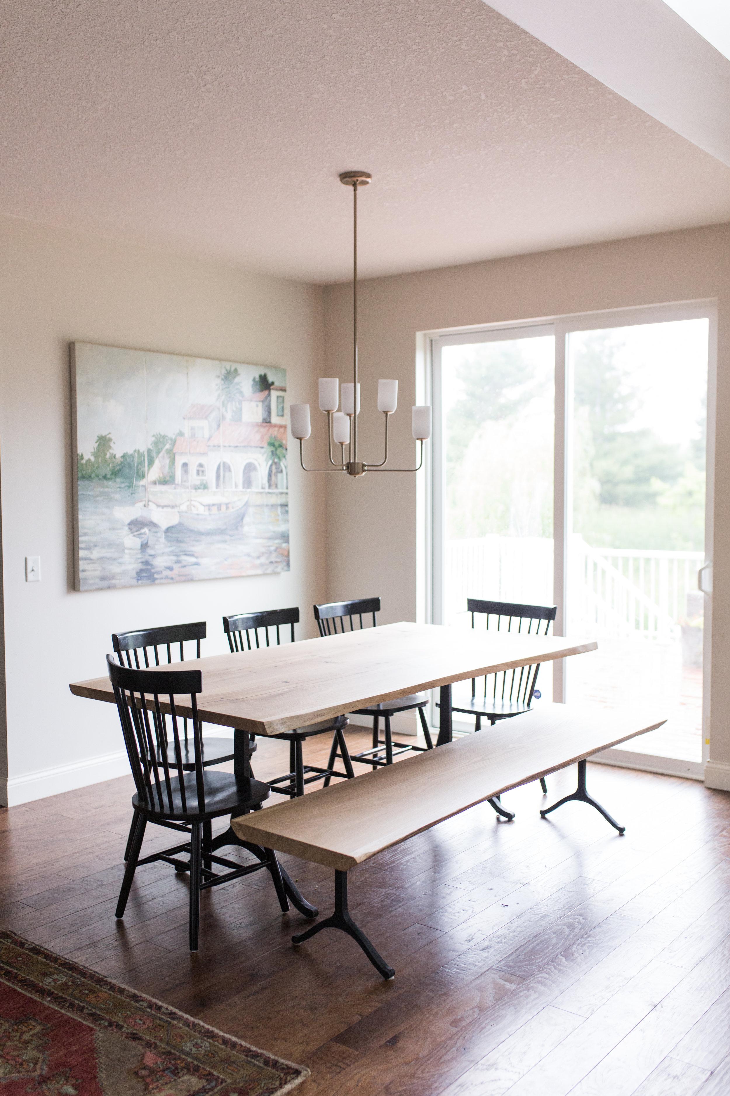 White Oak Live Edge Dining Table