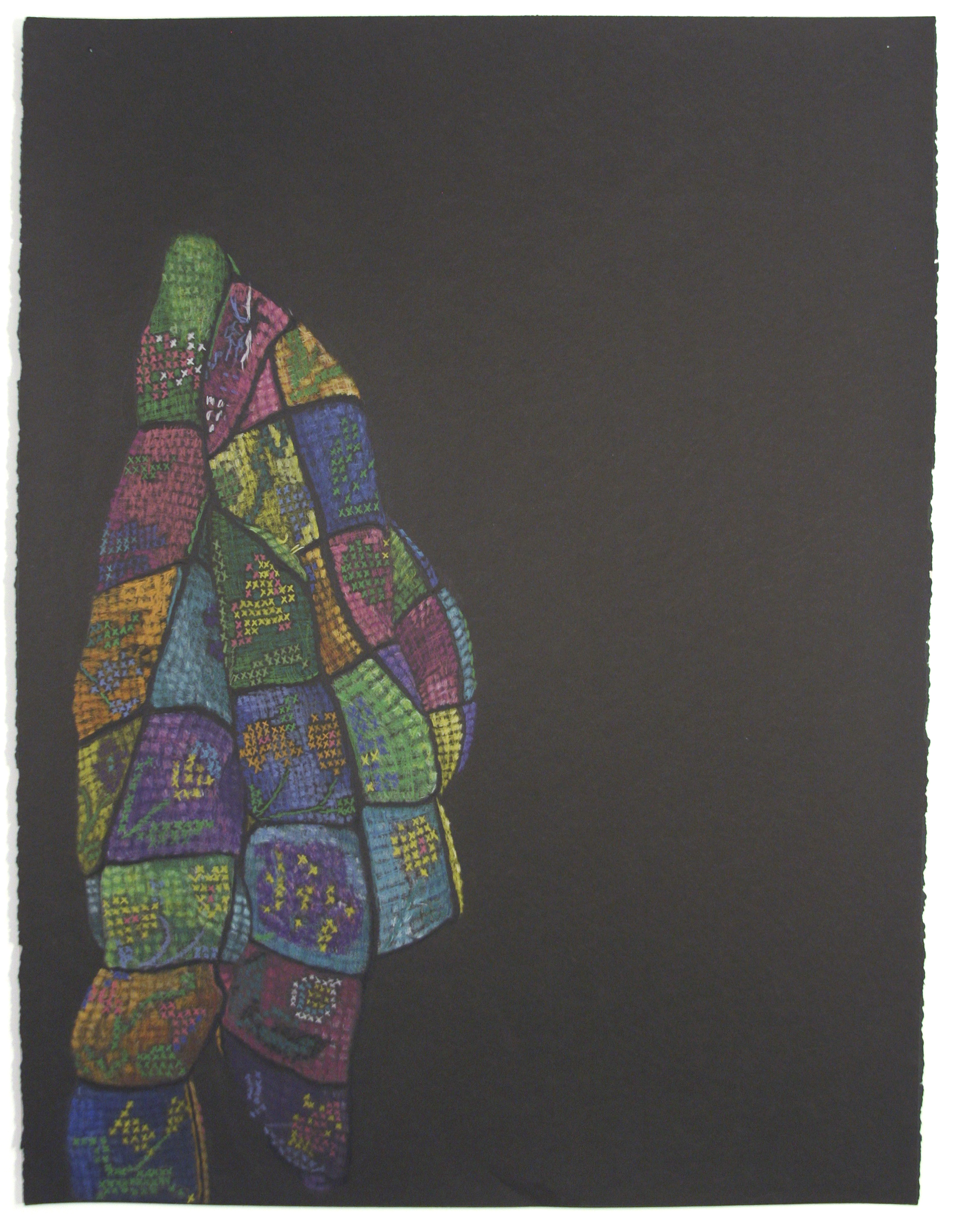 "RUBIKS SWEATER 22"" x 30"" Colour Pencil on Paper $700.00 