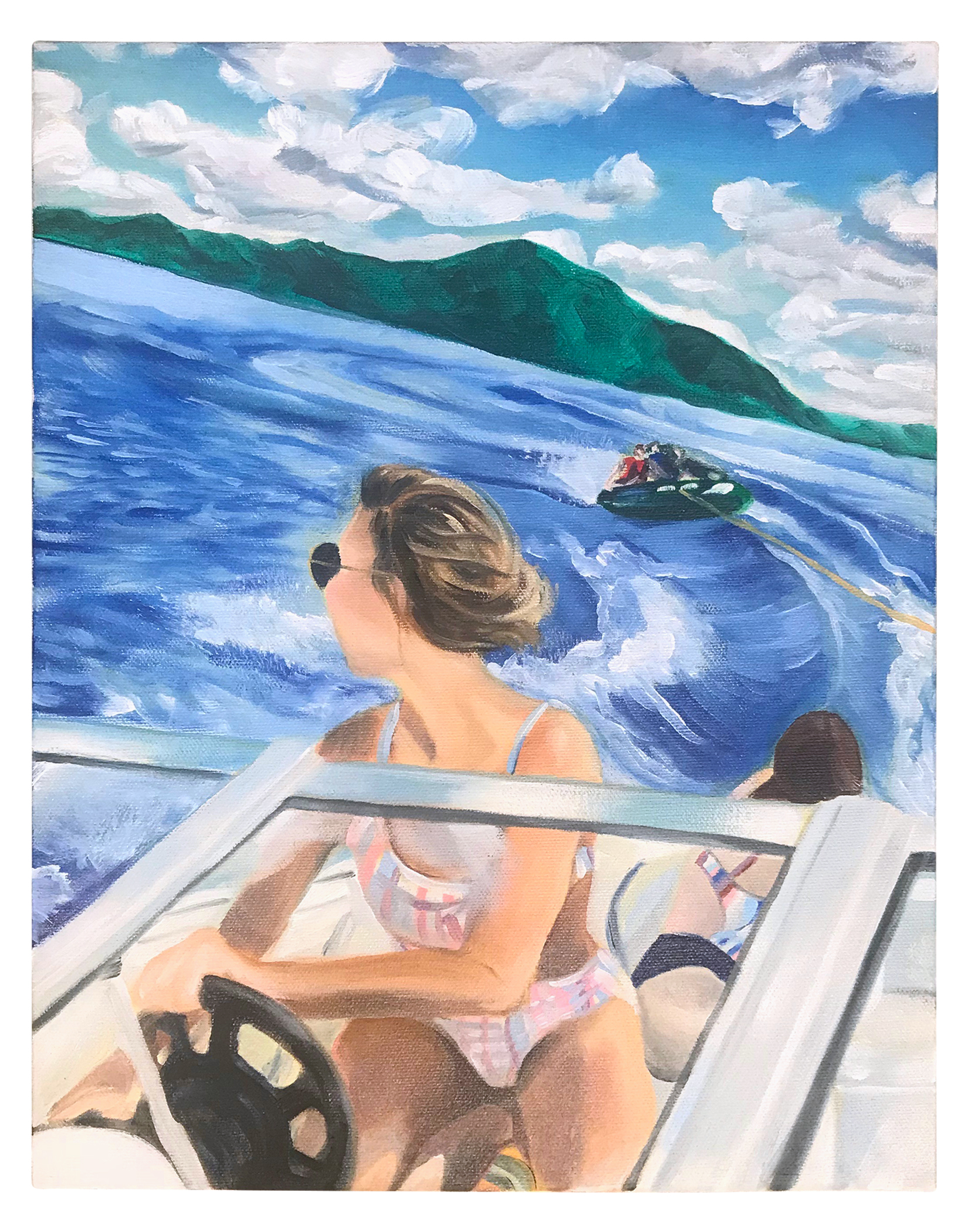 "FAST BOATS 11"" x 14"" Oil on Canvas 2018 