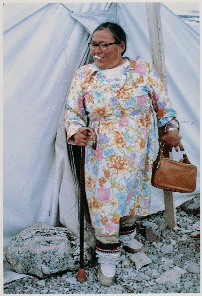 Martha Angugattiaq Ungaalaaq (Inuk), Steensby Inlet, Nunavut, 1975  Photo: Robert Semeniuk [LAC]