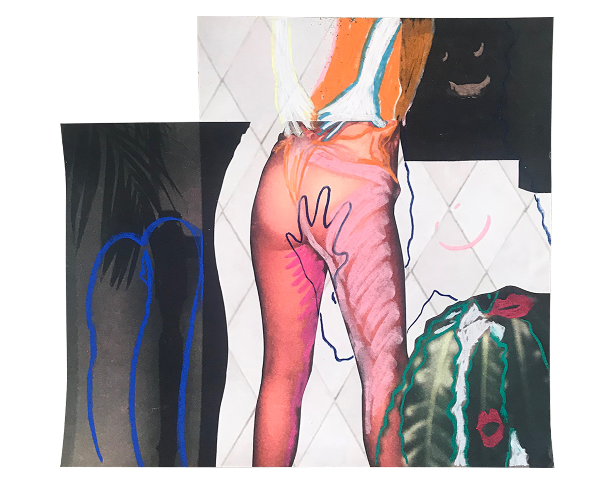 "DEVIANT PLEASURE 10"" x 12"" Chalk Pastel on Archival Inkjet Print $75.00    BUY"