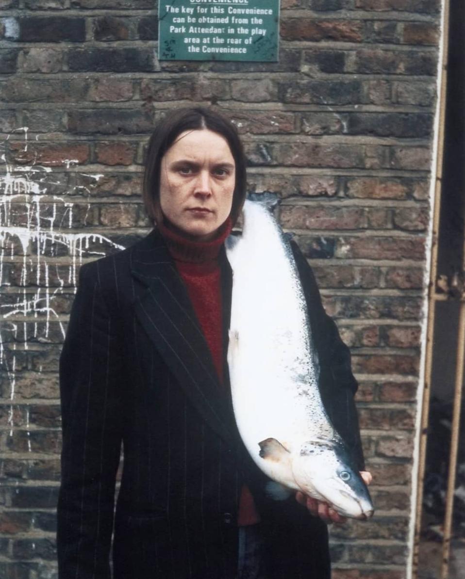 Sarah Lucas -  Got a Salmon on #3 ( 1997)