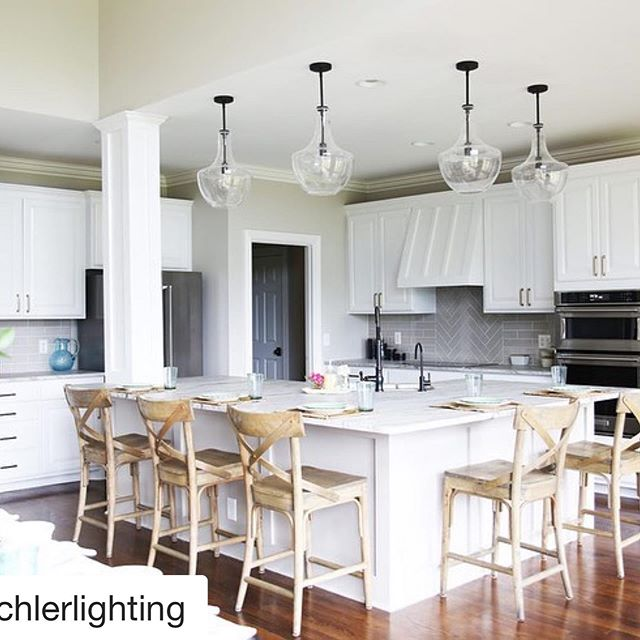 #Repost @kichlerlighting with @get_repost ・・・ Thinking of updating your kitchen but are unsure where to start? ⁣🏠 ⁣ ⁣ @thehandmadehome shares pro tips on how to get started on a project, what to consider when updating lighting and more, on the Kichler blog. ⁣⁣ ⁣⁣ Swipe to see the 'before' ➡️ and visit the link in our profile to read the Q&A ⁣⁣ 💡: Everly#lighting #renovation #homefashion #designer #interiordesign #newhome #custom #wow #cool #islandlighting #yql