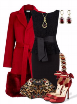 This combo is ideal from office to party.  Wear a jacket and pumps for day and replace with a pretty wrap and fab shoes. Add jewels, freshen up and...Oilaa!!