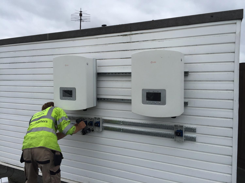 Inverters being installed
