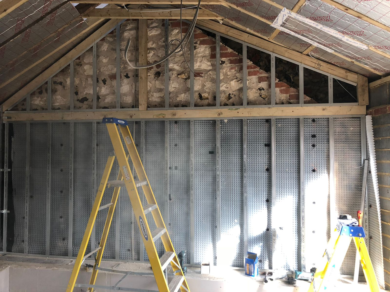 - All of the internal and external structural building works have now been completed, internal doors fitted, along with the installation of the kitchen and Solar Panels.