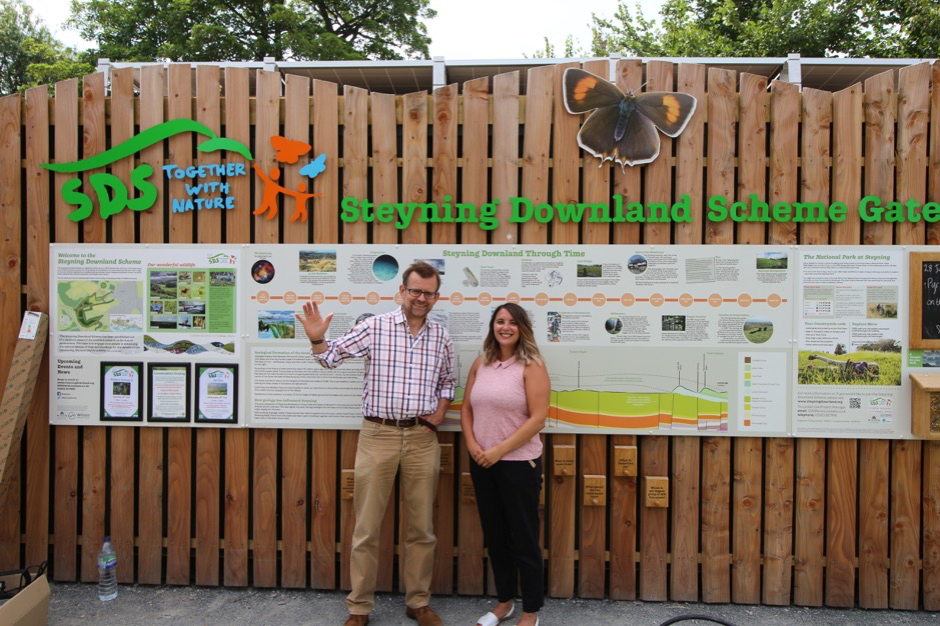 Matthew Thomas, Project Manager of Steyning Downland Scheme and Tara Kennard, Business Manager of Bright Spark Energy.