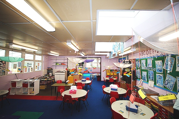 The Nursery with significantly improved lighting using Academy fittings - our favourite room for impact