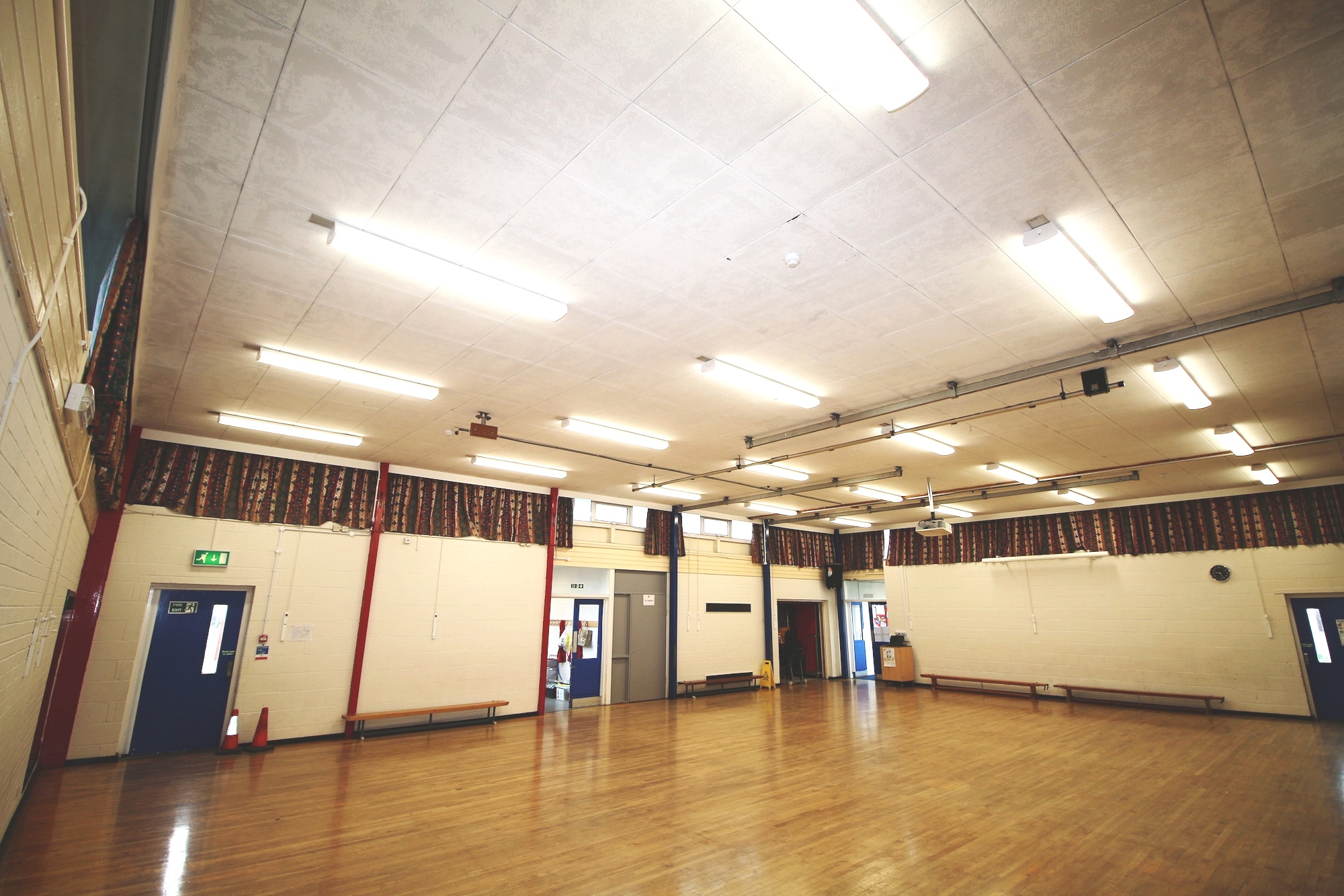 School Hall light quality significantly improved