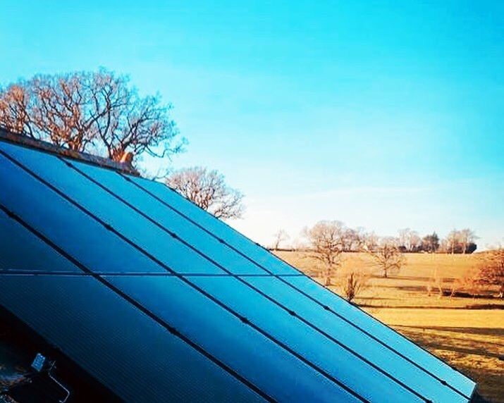 12 KWp Solar PV System overlooking the picturesque village of Lympstone.