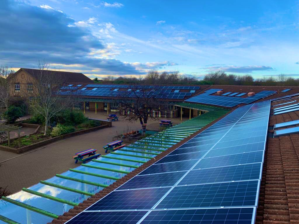 50 KWp Solar PV system installed on Southwold School.