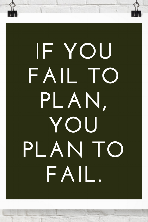 """Done By 5.DB5. Small business blog. Graphic: """"If you fail to plan, you plan to fail."""" Small Business Advice, Small Business Tips."""