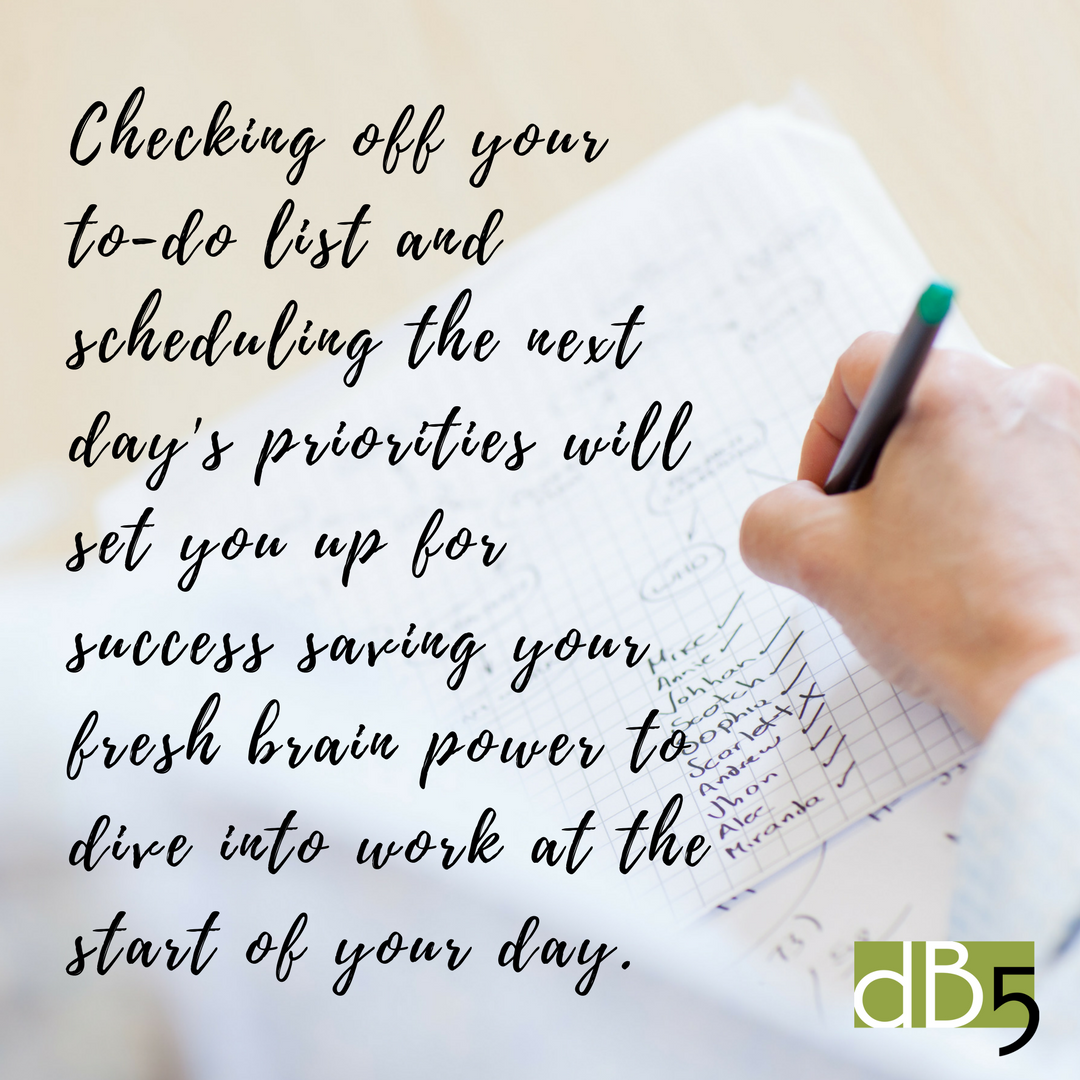 Done By 5. DB5. Virtual Assistants San Francisco Bay Area. Small Business Blog: Getting Organized for the New Year. Small Business Quote