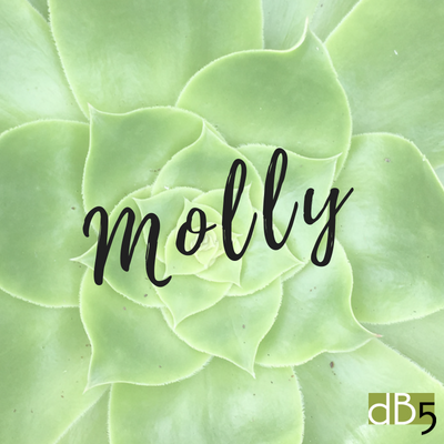 Done By 5, Molly name graphic. Virtual Assistants for small business owners. San Francisco Bay Area.png
