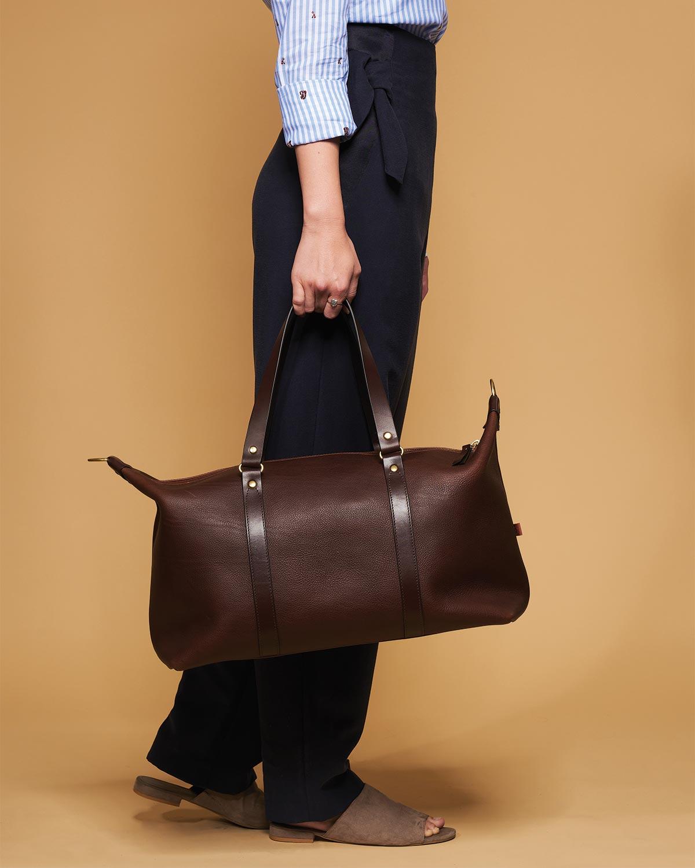 Otani Leather Weekender_Brown_Detail_Female.jpg