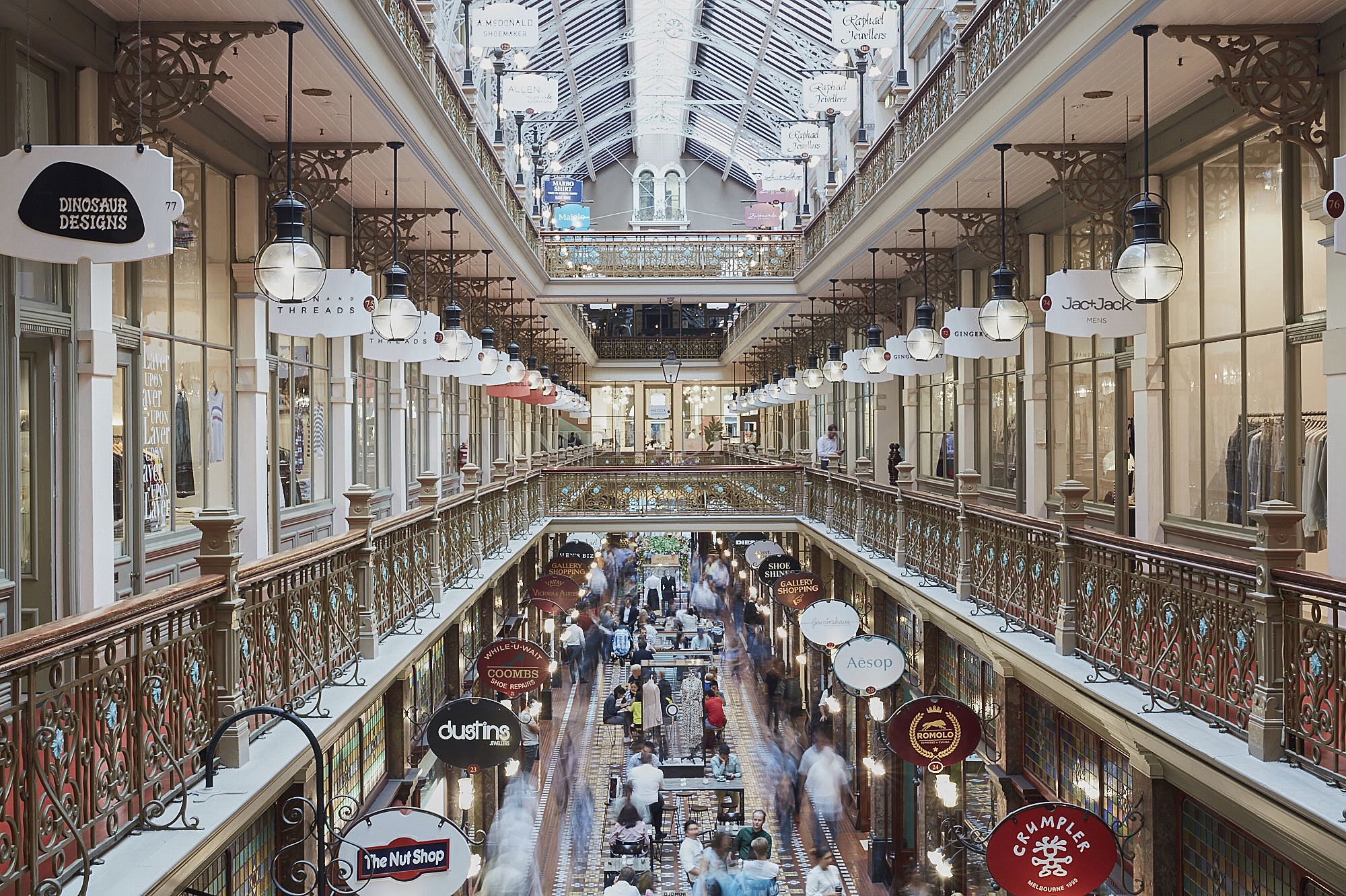 Above | The iconic heritage retail centre from Vicinity Centres; The Strand Arcade
