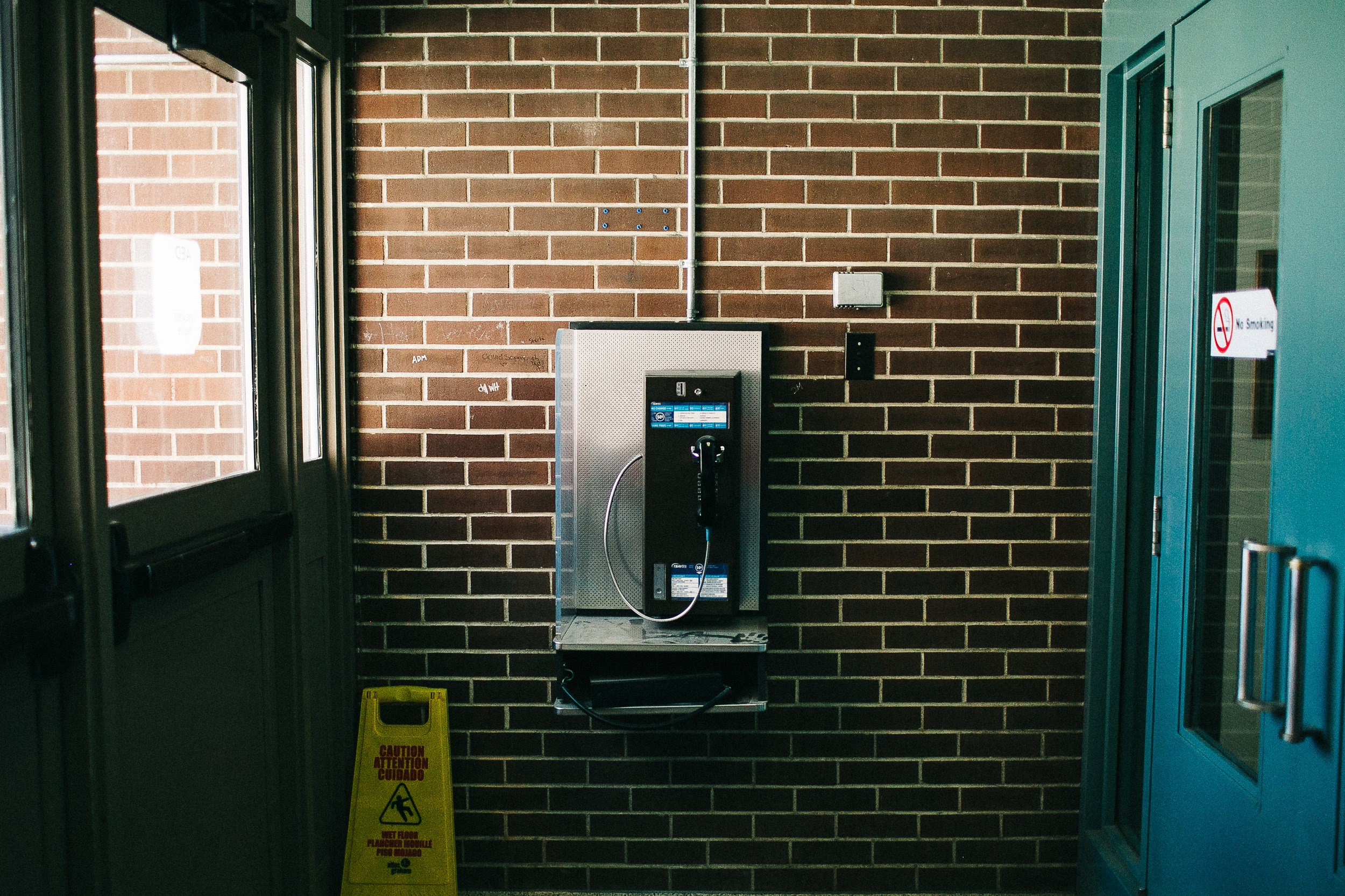 Pay Phone, High School, Thunder Bay, ON, 2017