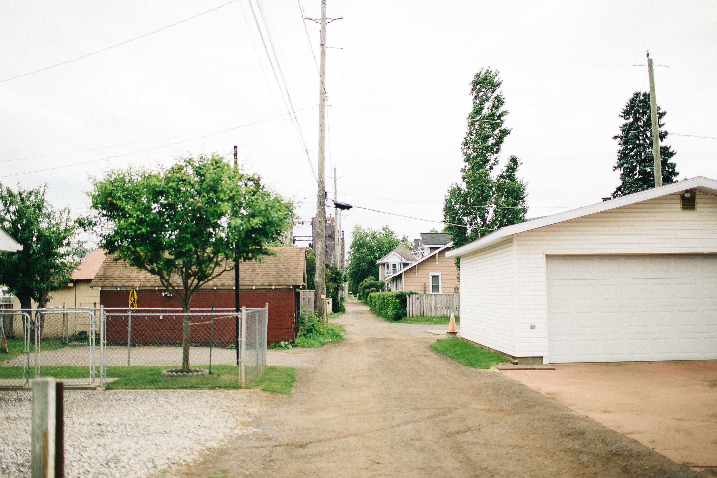 Back lanes of Westfort, Thunder Bay ON, 2017