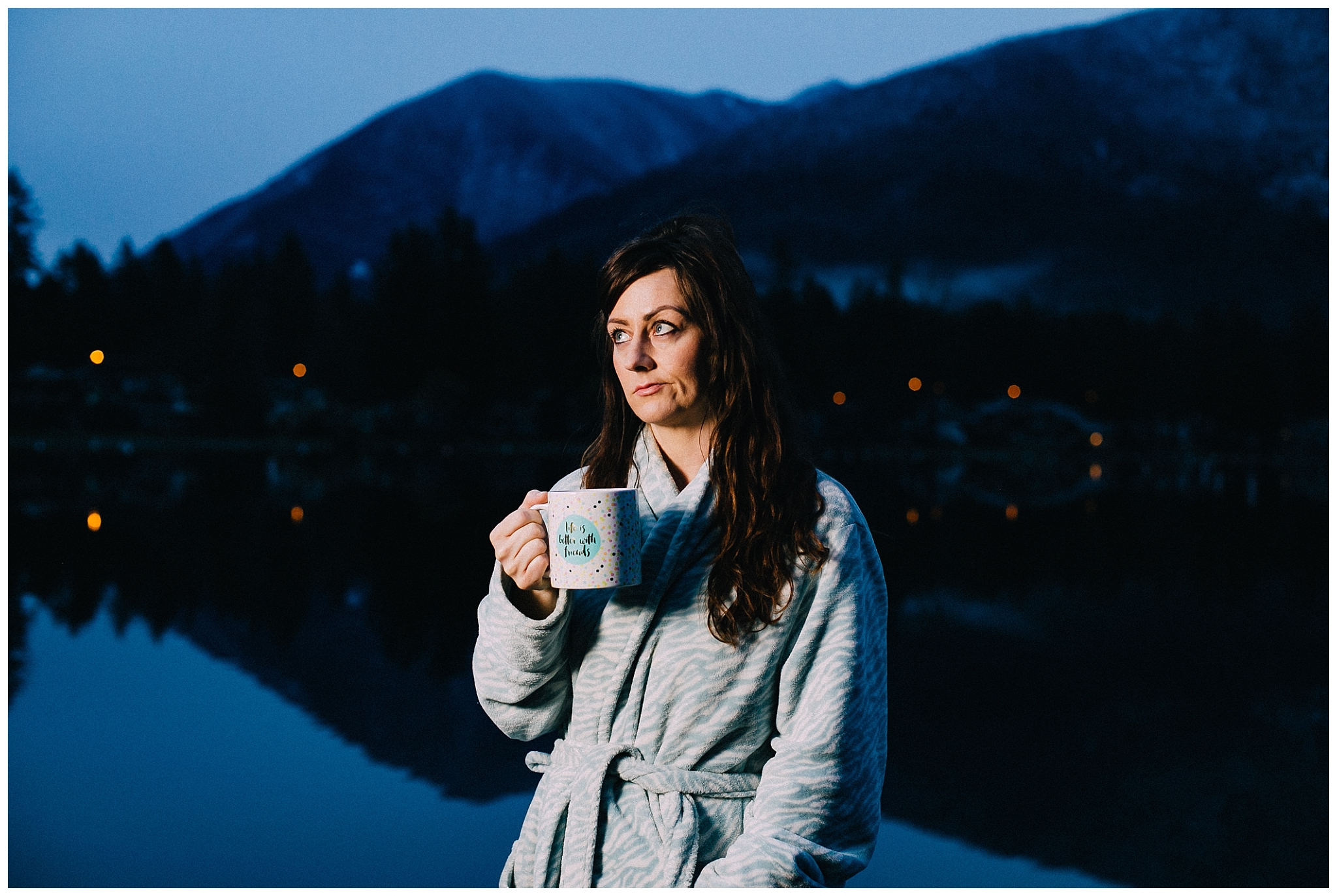 7 a.m.: Coralee, feelin' those morning feels, in Cultus Lake.