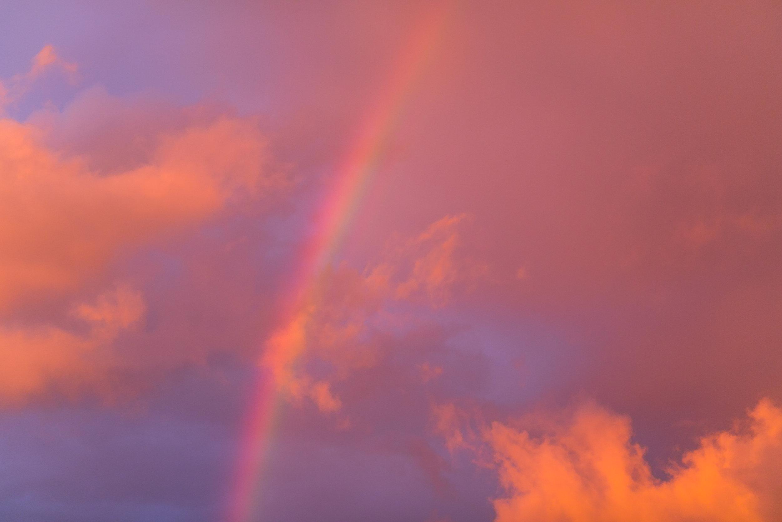 A beautiful rainbow sunset I took over 10 years ago now on Haida Gwaii. Seemed fitting.