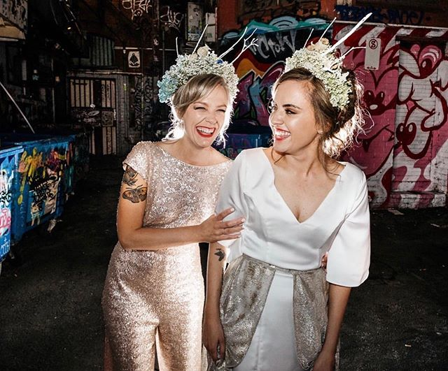 One of the last times we were in Melbourne, we dressed these drop dead gorg babes for their wedding! Since then, they've had an anniversary and had a baby!! THATS TOO LONG! So Melbourne we are finally coming to see you, we're hauling a suitcase of gorgeous pieces and taking up shop at @moonstruckbride for the week of 14th-22nd of September!🌙⭐️ Tell us what to bring! (It would be awkward if we had to wear everything on the plane to avoid excess baggage charges 😜) This is the Kate Jumpsuit & Margot Dress/Skirt. ✨ What do you want to try on?
