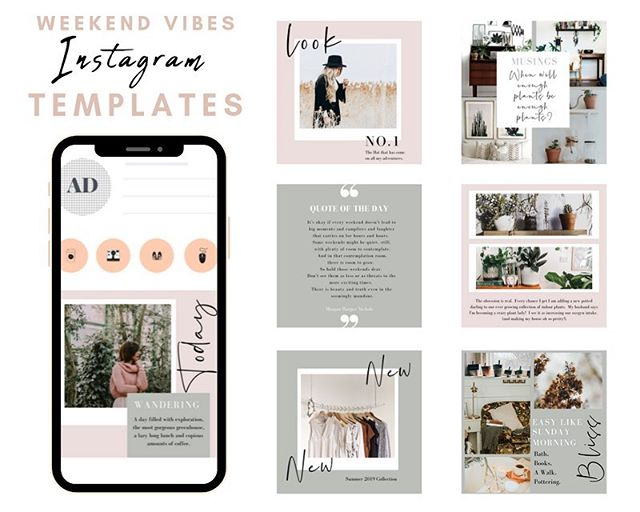 Happy #friday lovelies!  It has been a while but I have finally added some new Instagram templates to my store.  Introducing the Weekend Vibes Templates made in my fave design tool @canva.  So easy to drag and drop your own images into the templates, change the text to suit your post and load into Instagram.  They have a relaxed, weekend style and are perfect for both business and personal Instagram users. They are also available in Instagram Story templates and for just $10 are a great addition to your social media strategy without breaking the bank.  Head to the #linkinbio to check them out.