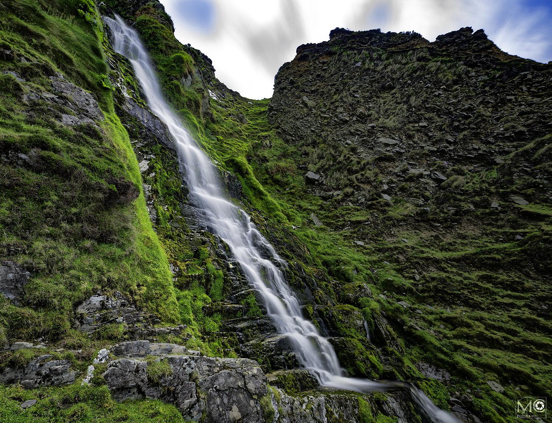 Waterfall at Keel Strand on Achill Island, Co. Mayo, Ireland