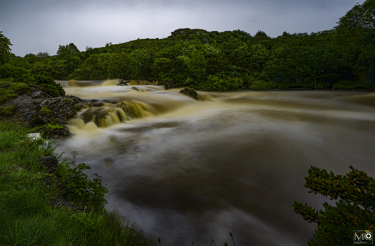River torrent after the rain near Kilcar, Co. Donegal, Ireland