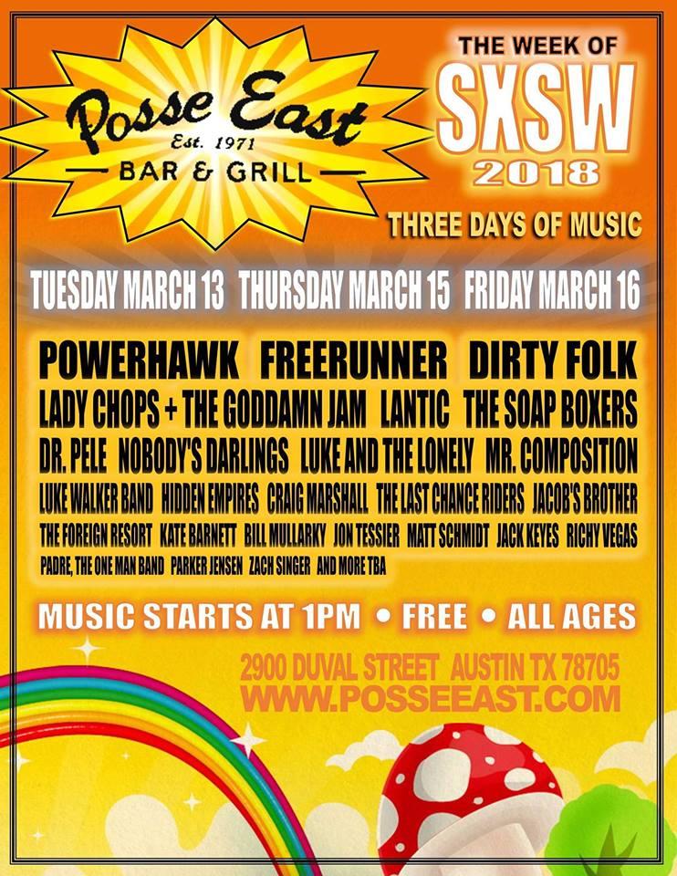 Jon Tessier does solo performance at Posse East festival (Austin TX) for SXSW 2018. -