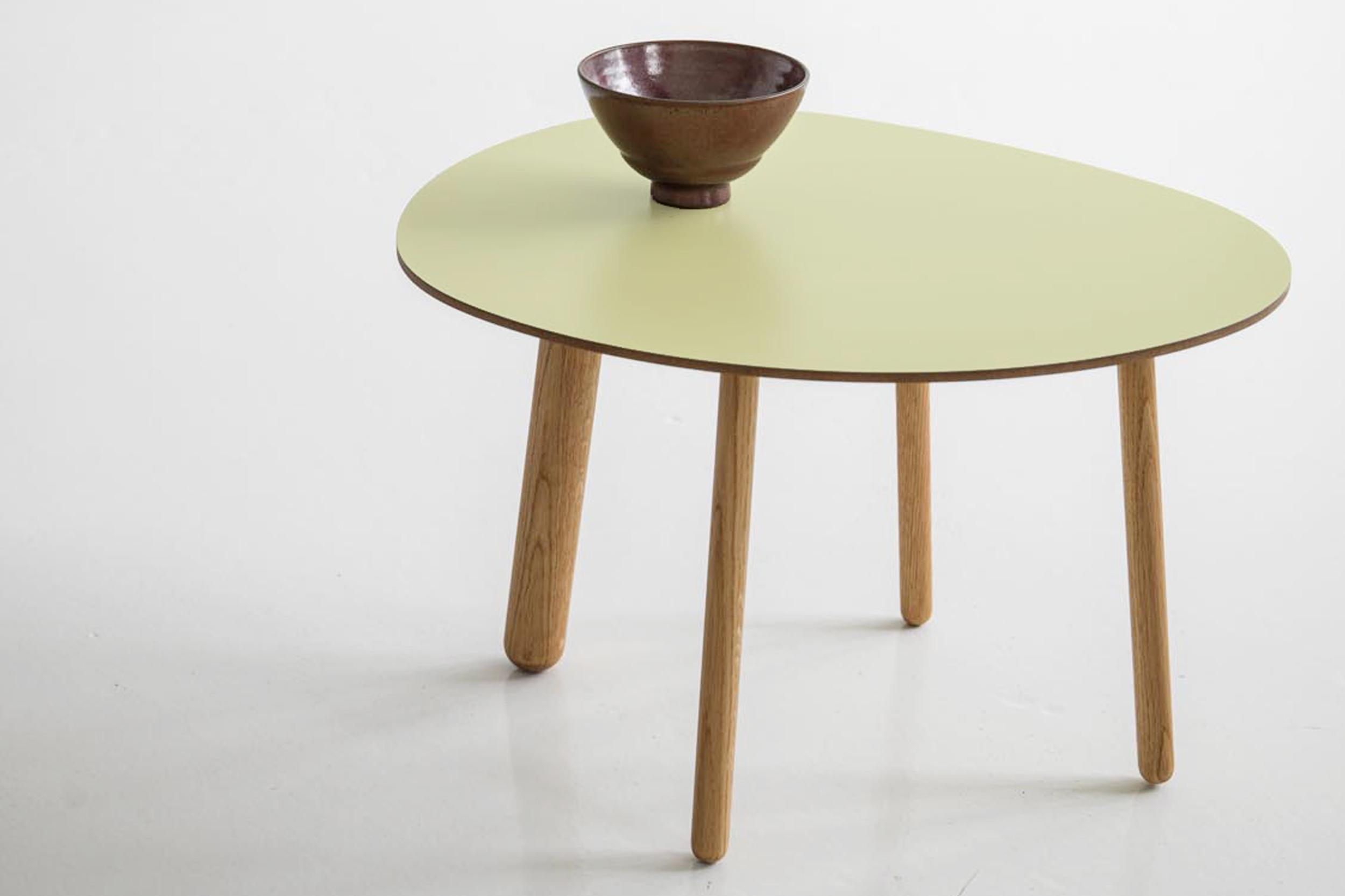 Morris coffee table model 1 in matte pale green