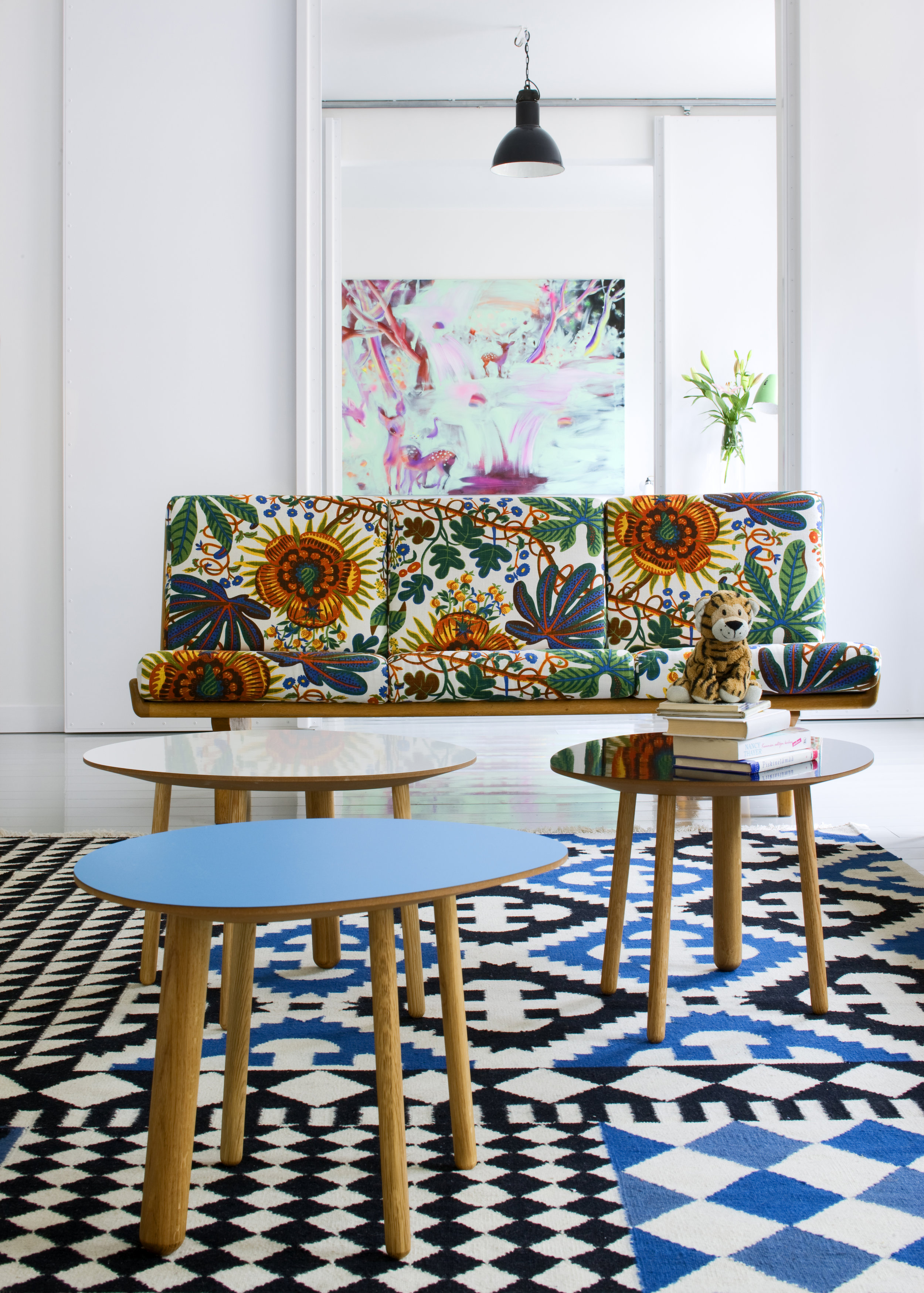 Habitek Morris tables in a colorful home