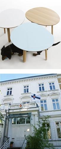 Habitek Morris tables at Finnish embassy