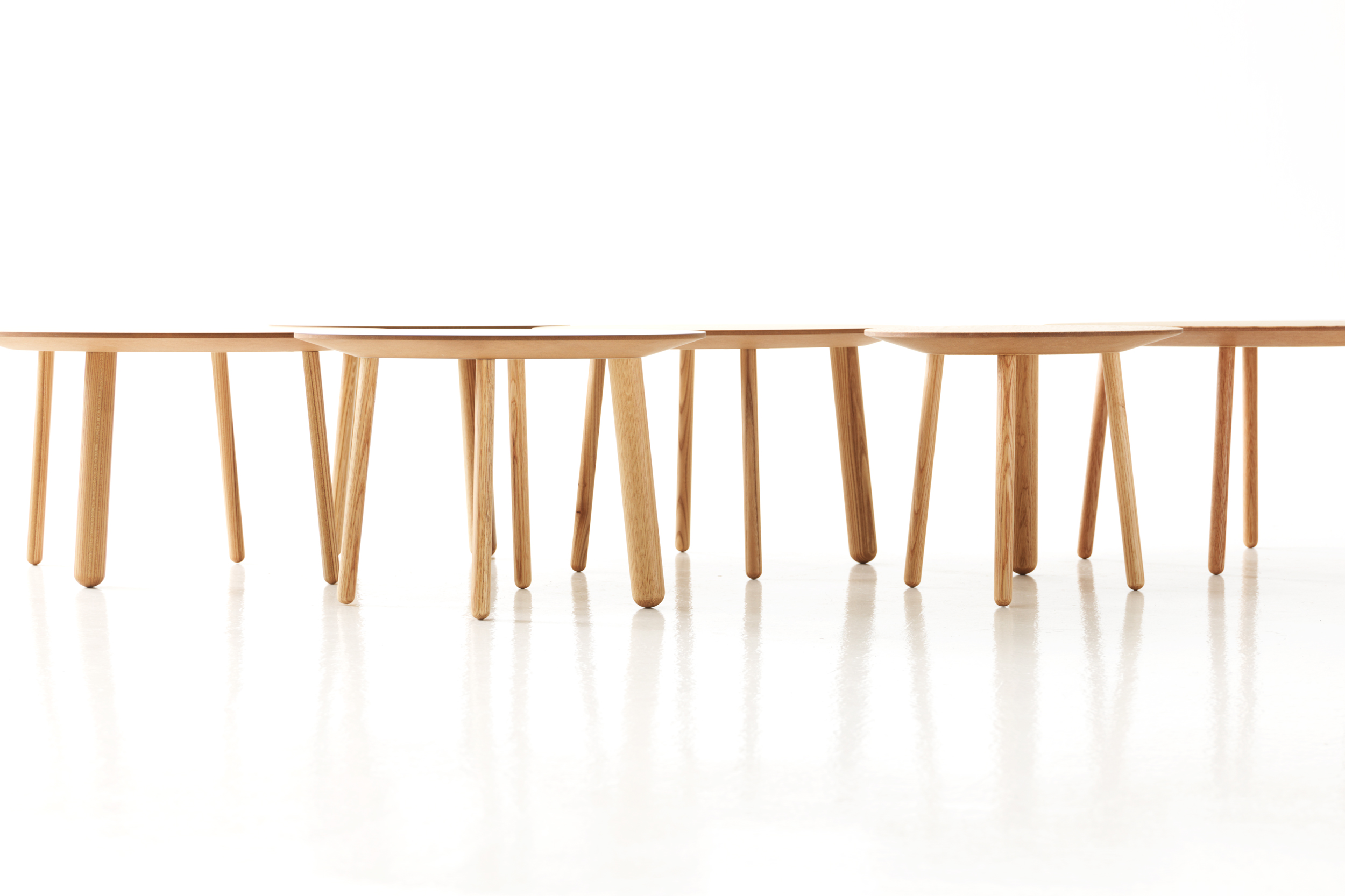 Morris coffee tables featured from the side