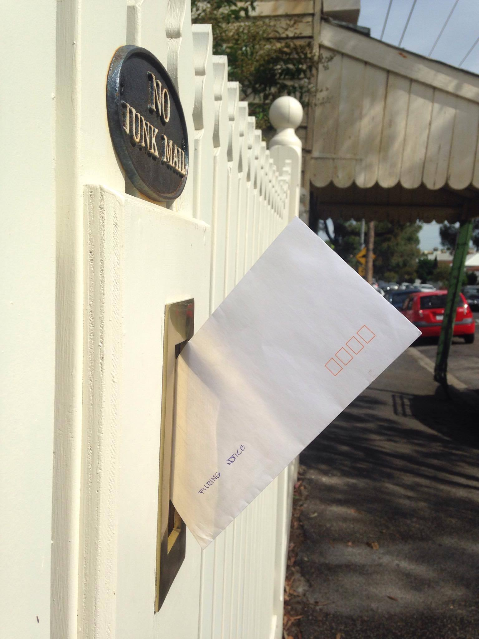 Flemington Letter Drop. Photo credit Daniela Ercoli