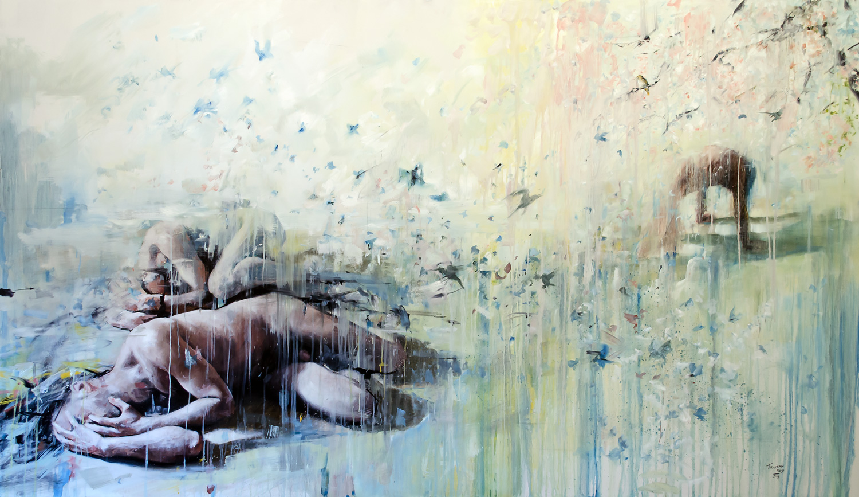 Perdedoras e Fantasmas, oil on panel, 122x210cm