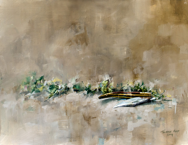 Still Life With Toledo Knife, oil on panel, 27x35cm
