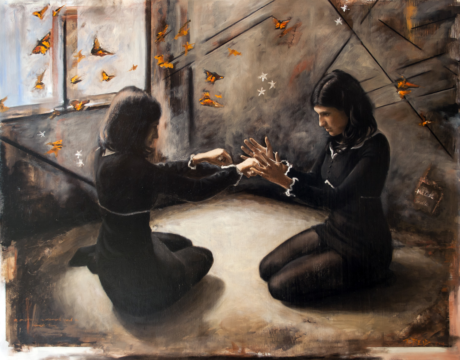 The Cat's Cradle, oil on panel, 82x104cm
